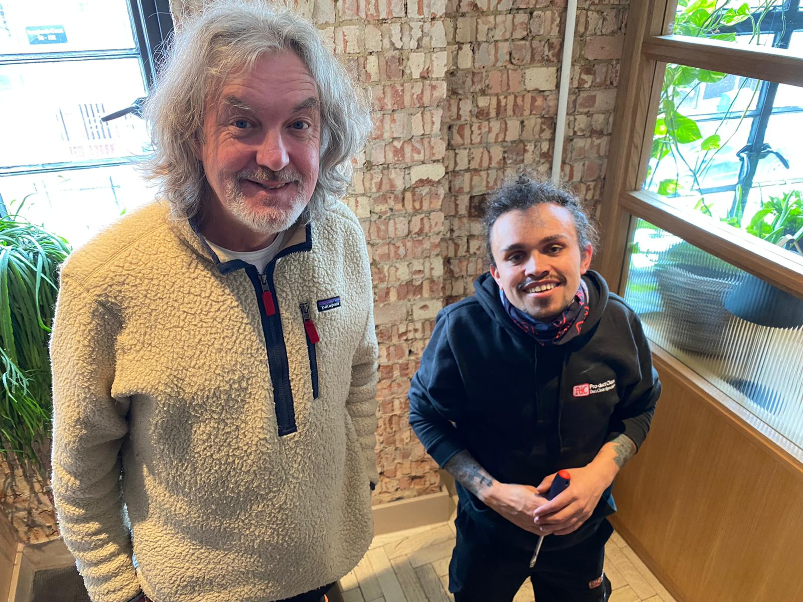 Harry Barham with James May