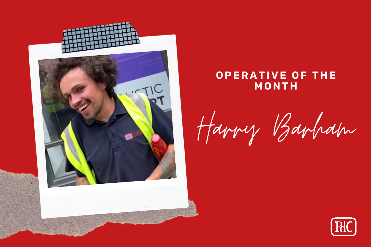 Operative of the Month Harry Barham